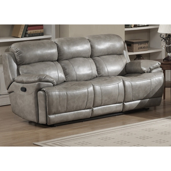 shop estella contemporary reclining sofa with 2 recliners on sale rh overstock com
