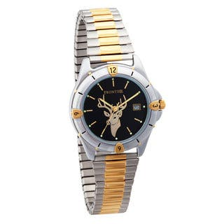 Mens Two-Tone Deer Watch|https://ak1.ostkcdn.com/images/products/10858278/P17897411.jpg?impolicy=medium