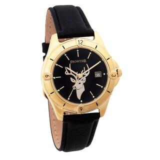 Men's Goldtone Deer Watch
