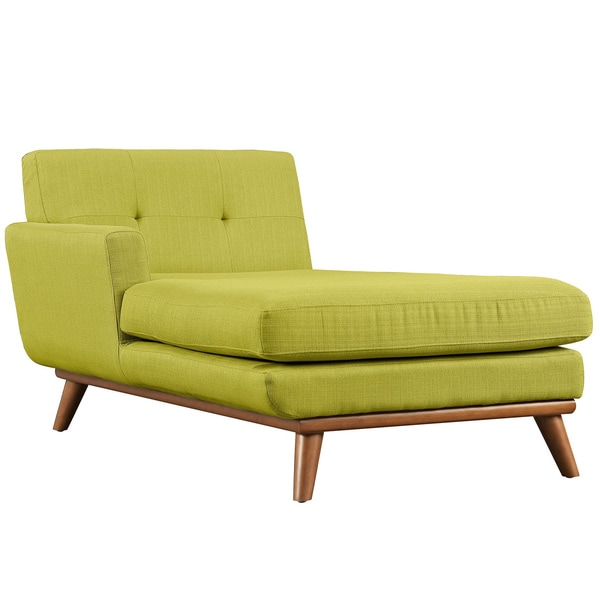 Engage left arm mid century chaise lounge free shipping for Armed chaise lounge