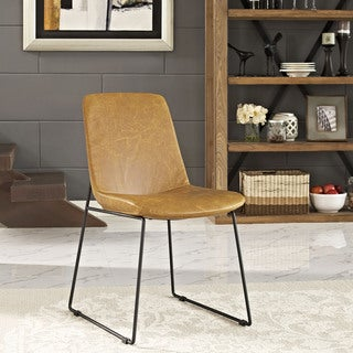 Carbon Loft Bode Steel Dining Chair with Vinyl Upholstery