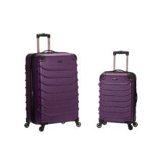 Rockland Light Weight 2-piece Hardside Spinner Upright Luggage Set