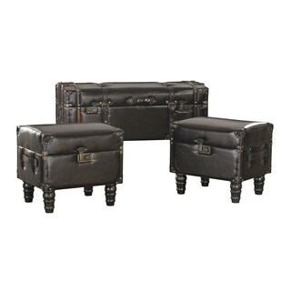Sterling Travelers Storage Trunks (Set of 3)