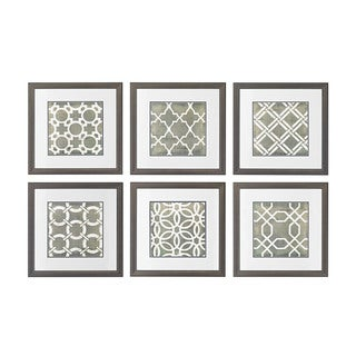 Symmetry Blueprint Framed Printed Wall Art