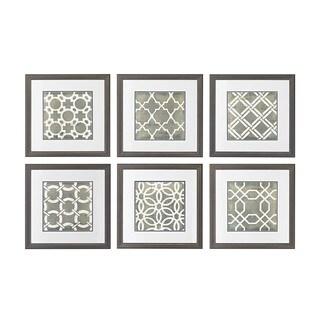 Symmetry Blueprint Framed Printed Wall Art