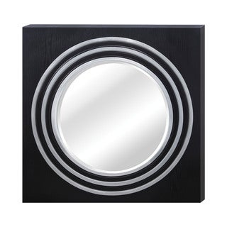 Black grooved frame long wall mirror 10426316 for Long wall mirrors for sale