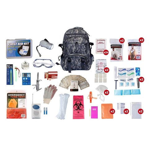 2 Person Elite Survival Kit 72 plus Hours - CAMO Backpack