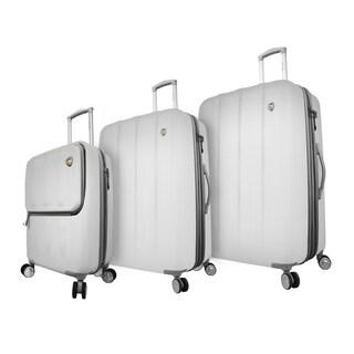 Mia Toro Italy Mezza Tasca 3-piece Expdanable Hardside Spinner Luggage Set (Option: White)