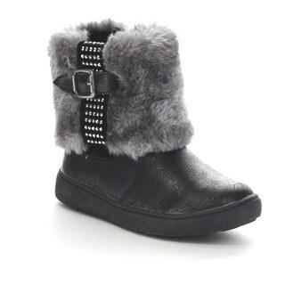 Beston Ga90 Girls' Mid Calf Warm Boots