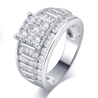 Divina 10k White Gold 2ct TDW Diamond Ring (I-J, I2-I3)