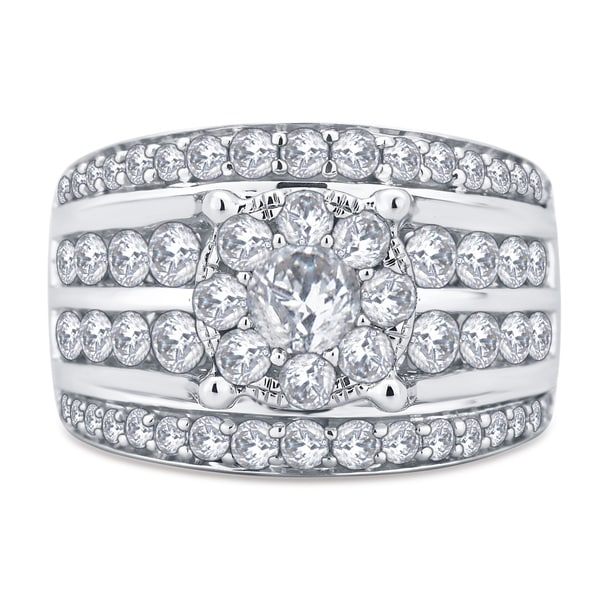 Divina 10k White Gold 3ct TDW Diamond Ring