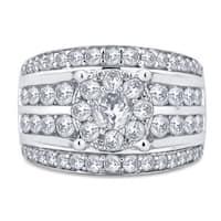 Divina 10k White Gold 3ct TDW Diamond Ring