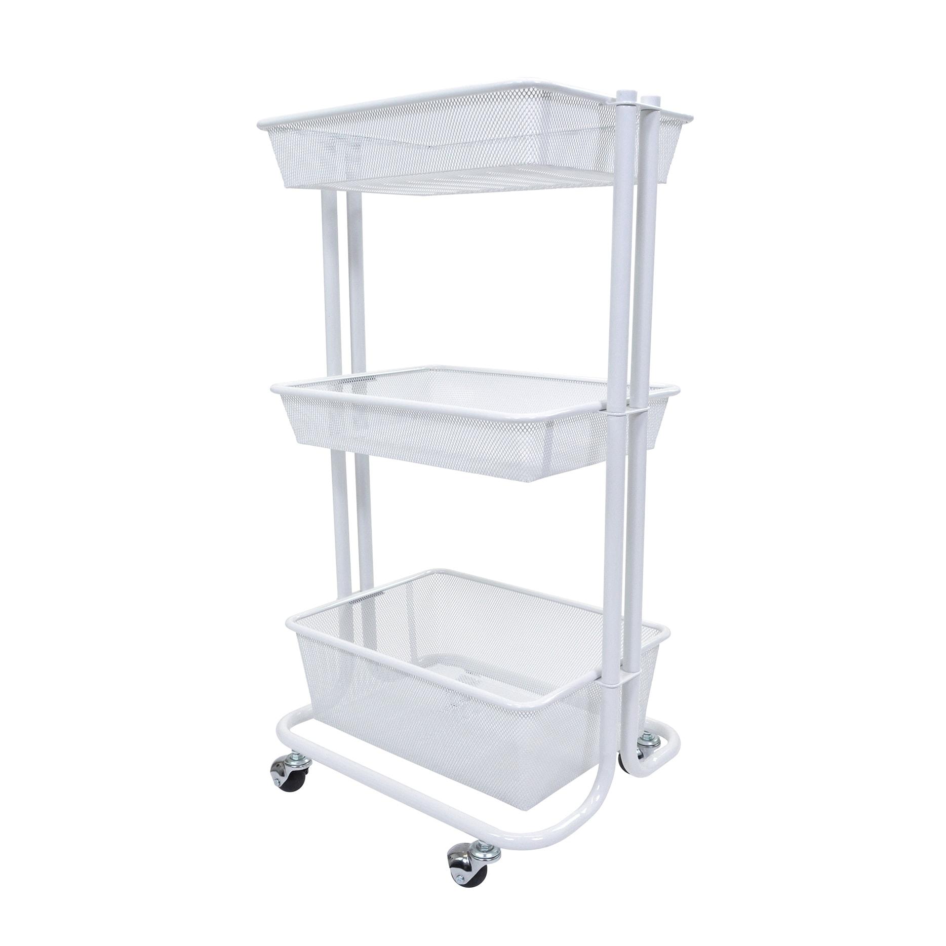 luxor Kitchen Utility Cart in White (Kithen Utilitty Cart...