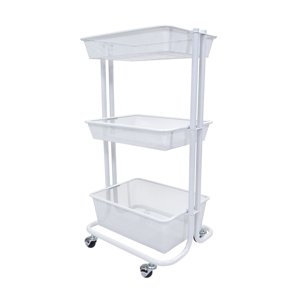 luxor kitchen utility cart in white free shipping today