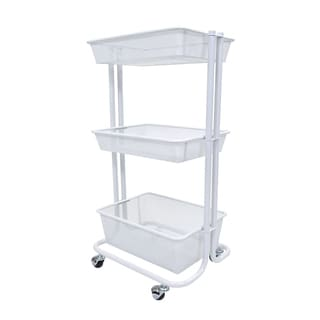 Luxor Kitchen Utility Cart in White