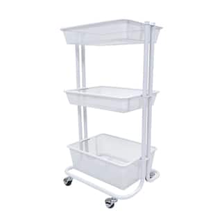 Luxor Kitchen Utility Cart in White|https://ak1.ostkcdn.com/images/products/10858515/P17897606.jpg?impolicy=medium