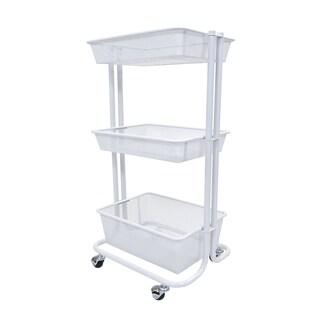 Luxor Kitchen Utility Cart in White