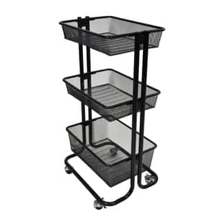Luxor Kitchen Utility Cart in Black|https://ak1.ostkcdn.com/images/products/10858516/P17897607.jpg?impolicy=medium