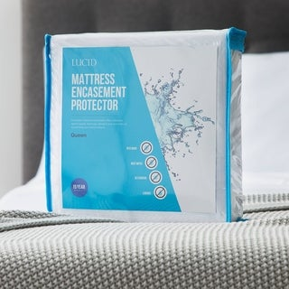 LUCID Comfort Collection Bed Bug and Waterproof Mattress Protector and Encasement - White