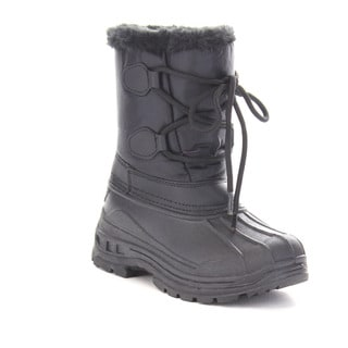 Beston Gb03 Girls'Winter Waterproof Lace Up Mid Calf Warm Boots