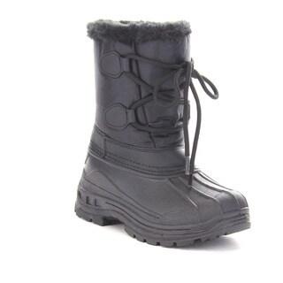 Beston Gb03 Girls'Winter Waterproof Lace Up Mid Calf Warm Boots
