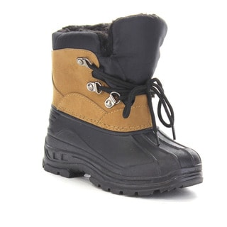 Beston Gb04 Kids' Winter Waterproof Lace Up Boots