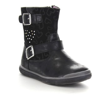 Beston Gb06 Gir'sl Mid Calf Double Straps Side Zipper Flat Boots