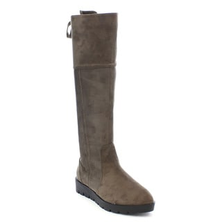 Shake Collection Jadie Women's Comfort Flat Lace Up Side Zipper Knee High Boots
