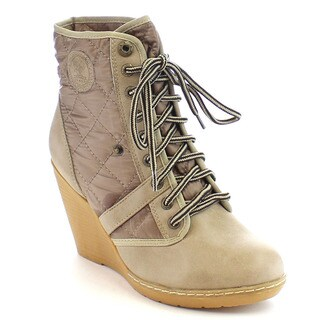 Shake Collection Holly Women's Quilted Lace Up Ankle Booties