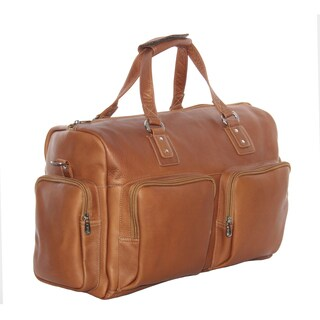 Piel Leather 18-inch Multi-Pocket Carry-On Duffel Bag