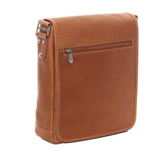 Piel Leather iPad/Tablet Vertical Messenger Bag