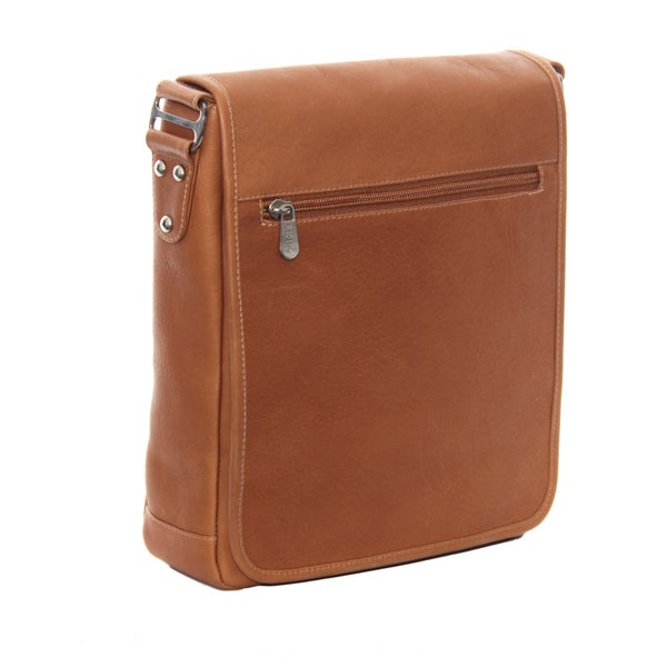 Piel Leather Ipad Tablet Vertical Messenger Bag
