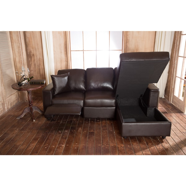 ... sectional sofa · faux leather recliner and storage chaise sofa free shipping today 17897724 ...  sc 1 st  Helen Mirren : chaise sectional leather - Sectionals, Sofas & Couches