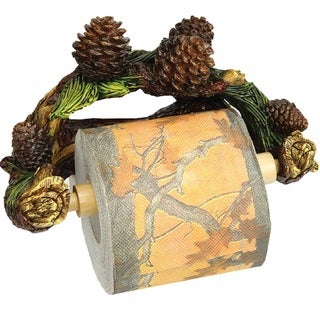 Rivers Edge Pinecone Wall Mount Toilet Paper Holder