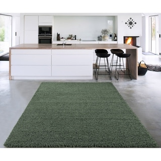 """Cozy Shag Collection Solid Colors Shag Rug (5'0"""" X 7'0"""")"""