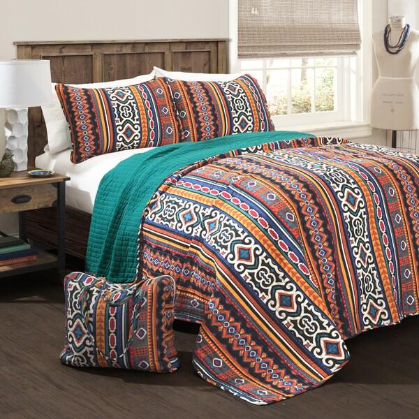 Lush Decor Bettina 4-piece Quilt Set with Bonus Tote