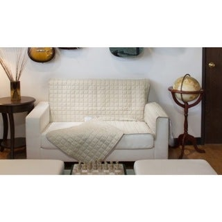 Two-Piece Button Design Chair Cover