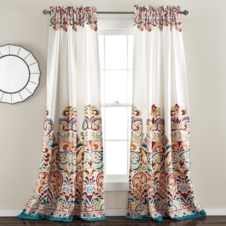 Lush Decor Clara 84-Inch Room Darkening Window Curtain Panel Pair