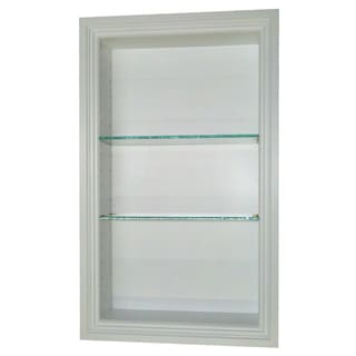 24-inch Recessed In the wall Belle Isle White Finished 2.5-inch deep Niche