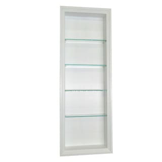 42-inch Recessed In the wall Belle Isle White Finished 2.5-inch deep Niche