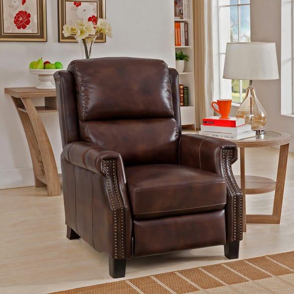 Incredible Rivington Brown Premium Top Grain Leather Recliner Chair Bralicious Painted Fabric Chair Ideas Braliciousco