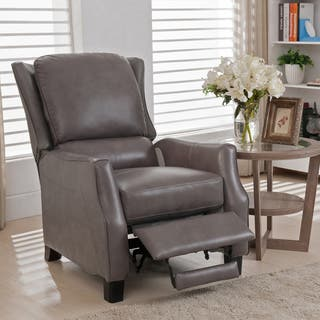 living room recliner chairs. Staten Grey Premium Top Grain Leather Recliner Chair Recliners For Less  Overstock com