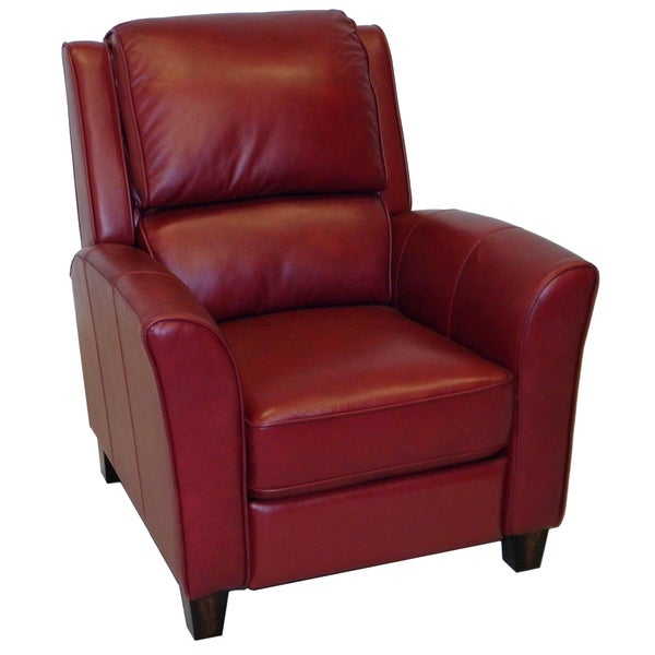 Red Leather Reclining Chair carnegie phoenix red premium top grain leather recliner chair