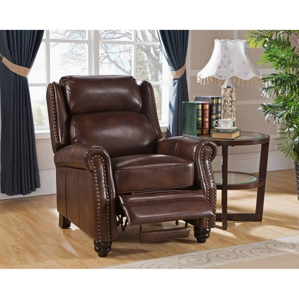 Madison Brown Premium Top Grain Leather Recliner Chair  sc 1 st  Overstock.com & Madison Brown Premium Top Grain Leather Recliner Chair - Free ... islam-shia.org