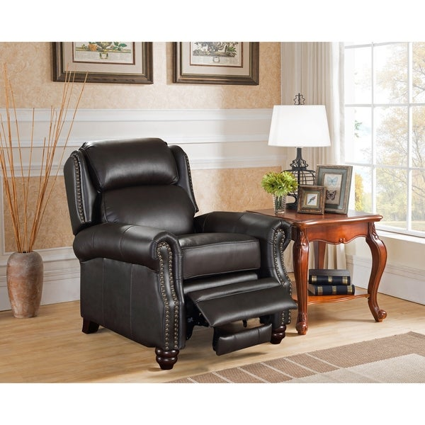 Gentil Madison Brown Premium Top Grain Leather Recliner Chair