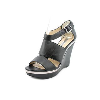 INC International Concepts Women's 'Camie' Leather Wedges Sandals