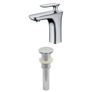 Single Hole CUPC Approved Brass Faucet Set In Chrome Color With Drain