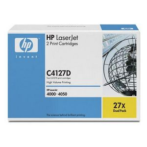 HP Black Toner Cartridge Dual Pack For LaserJet 4000 and 4050 Series Printers