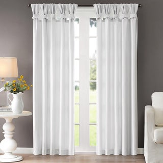 Madison Park Natalie Twisted Tab Curtain Panel (50x95) in Ivory (As Is Item)