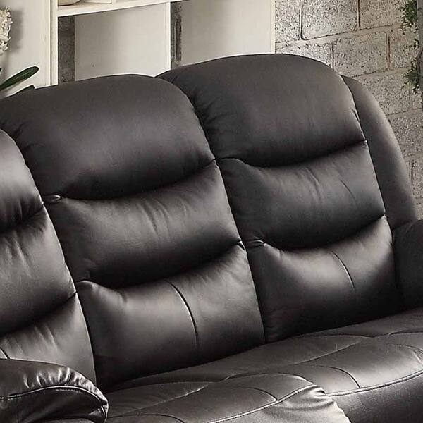 Prime Shop Bennett Black Leather Reclining Sofa On Sale Free Dailytribune Chair Design For Home Dailytribuneorg